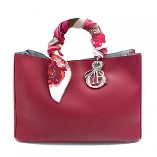 Christian Dior Red Leather Diorissimo Bag