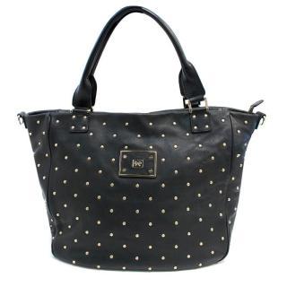Anya Hindmarch Black Studded Leather Shoulder Bag