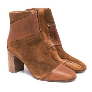 Lathbridge Tan Leather Ankle Boots