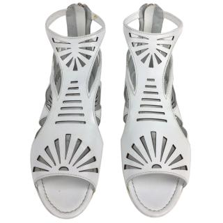 Sergio Rossi White Gladiator Sandals
