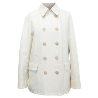 Loro Piana Beige Double Breasted Coat