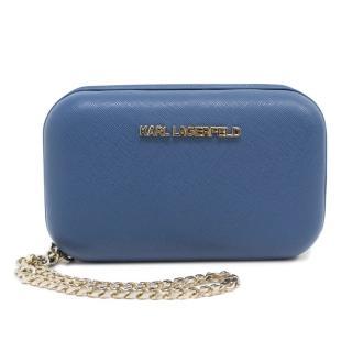 Karl Lagerfeld Blue Box Clutch