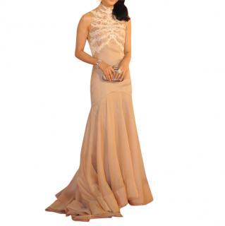 Alexander McQueen Pale Pink Silk Gown