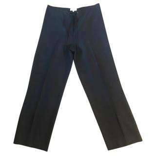 Gerard Darel black linen wide leg trousers