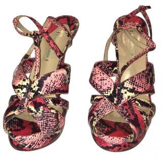 Nicholas Kirkwood Pink Watersnake Sandals