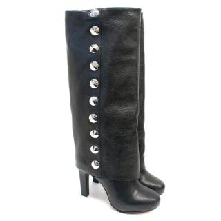 BE&D Black Below the Knee Heeled Boots