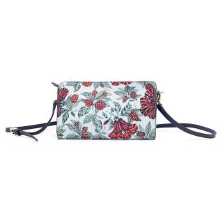 Tory Burch Floral Print Coated Canvas Bag