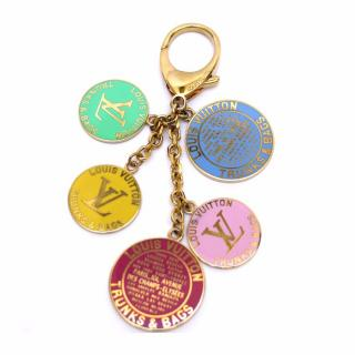 Louis Vuitton Multicolor Globe Trunks Bag Charm Key Ring