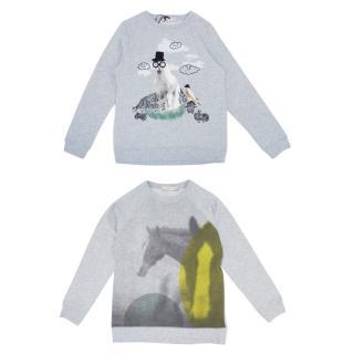 Stella McCartney Kids Grey Graphic Print Sweatshirts