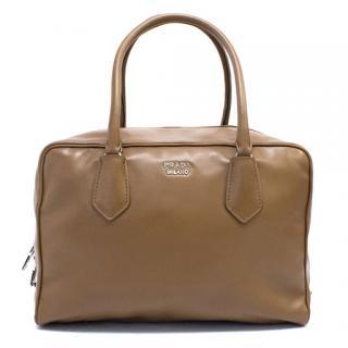 Prada Cinnamon Calfskin Bauletto Bag