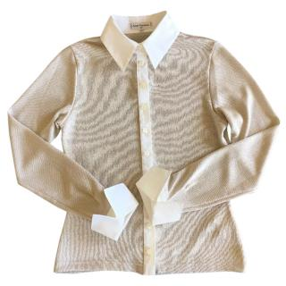 Anne Fontaine jersey crepe shirt