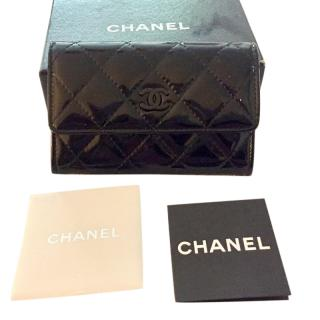 Chanel Black Leather Card Wallet