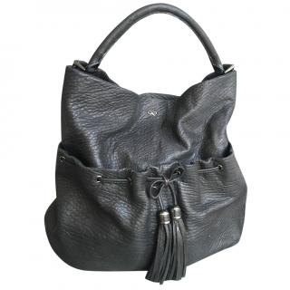 Anya Hindmarch Black Grained Leather Bag