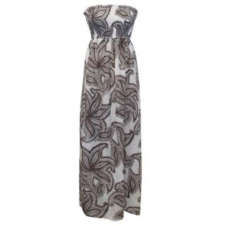 Heidi Klein Paisley Patterned Strapless Maxi Dress