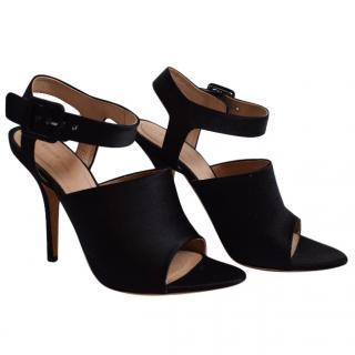 Celine Black Satin Sandals