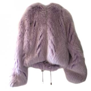 Christian Dior Hooded Fox Fur Jacket