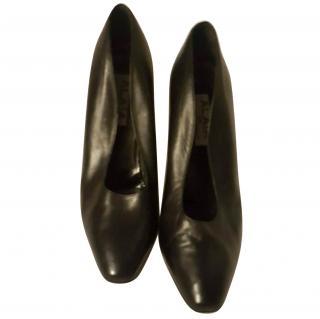 Azzedine Alaia Black Leather Heels