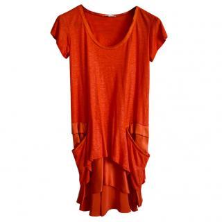 Vanessa Bruno Orange Mini Dress