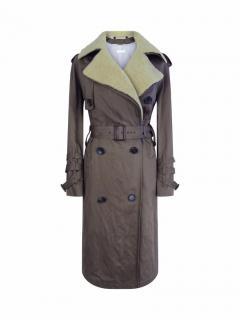 Nicole Farhi Khaki Green Trench Coat