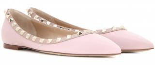 Valentino Light Pink Rockstud Ballerinas