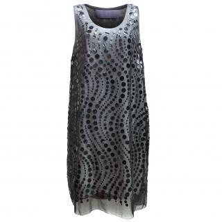 Vera Wang lavender label silk sequin dress