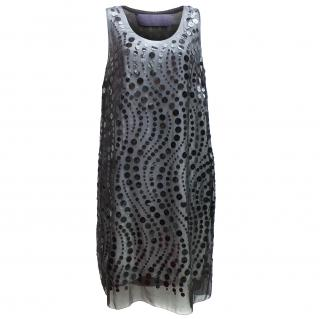 Vera Wang lavender label silk sequin dress