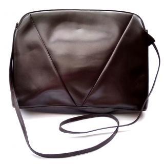Valentino Garavani Vintage Brown Leather Shoulder / Clutch Bag .