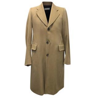Dries Van Noten Camel Wool Coat