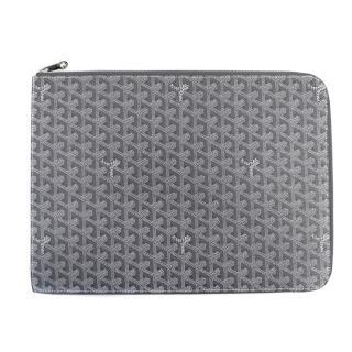 Goyard Grey Laptop Case