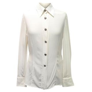 Gianfranco Ferre Cream Layered Shirt Style Body