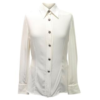 Gianfranco Ferre Cream Layered Shirt Style Body