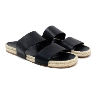 Balenciaga Black Two Strap Sandal