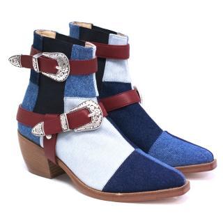 Tommy Hilfiger Denim Cowboy Ankle Boots