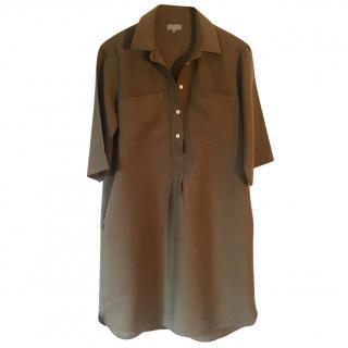 Margaret Howell 100% linen brown shirt dress