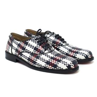 Christian Louboutin Mens Woven Leather Derby Brogues