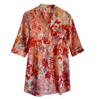 Helmut Lang floral tunic beach cover