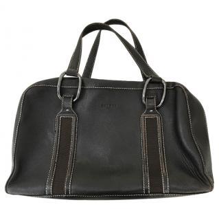 Paule Ka Chocolate leather bag