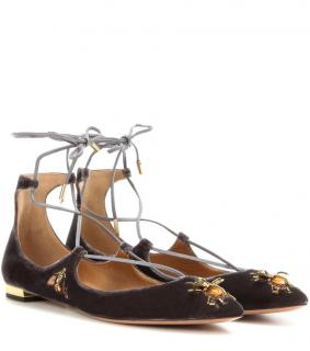 Aquazzura Christy Bee Embellished Flats