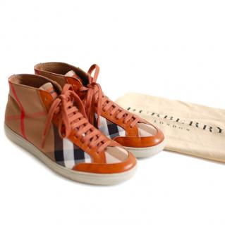 Burberry Plaid Sneakers