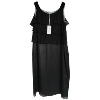 Betty Jackson Ruffle Top silk dress