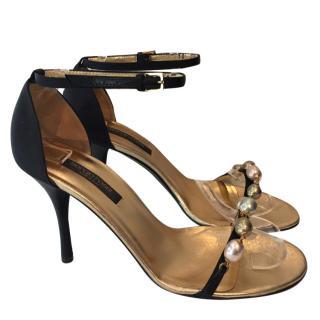 Sergio Rossi Pearl Detail Sandals