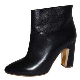 Rupert Sanderson Prestige Black Leather High Heel Ankle Booties