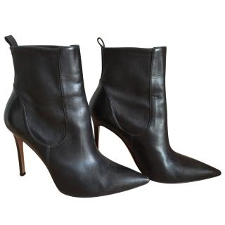 Gianvito Rossi black leather boots fits size 38.5