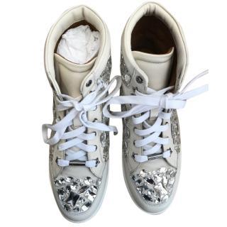 Jimmy Choo Tokyo crystal off white Sneakers
