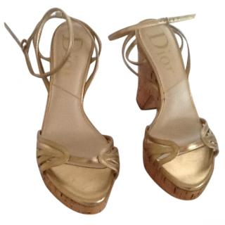 Dior Gold Sandals