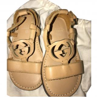 Gucci Boys leather sandals