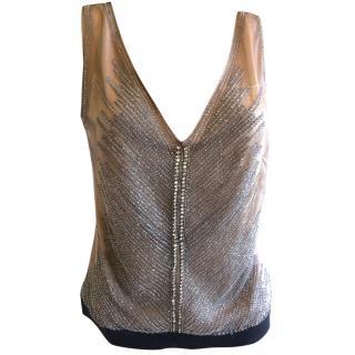 Alberta Ferretti Crystal Embellished Top