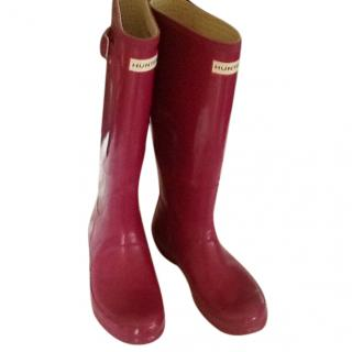 Hunter Dark Pink Boots