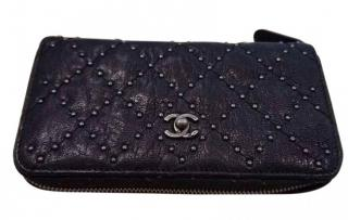 Chanel timeless leather wallet with stud detail