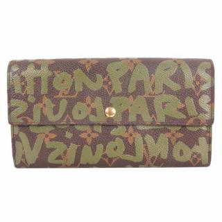 Louis Vuitton Khaki Graffiti Stephen Sprouse Pochette Wallet